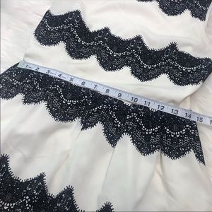 Skies Are Blue Dresses - [Skies Are Blue] White And Black Lace Detail Dress